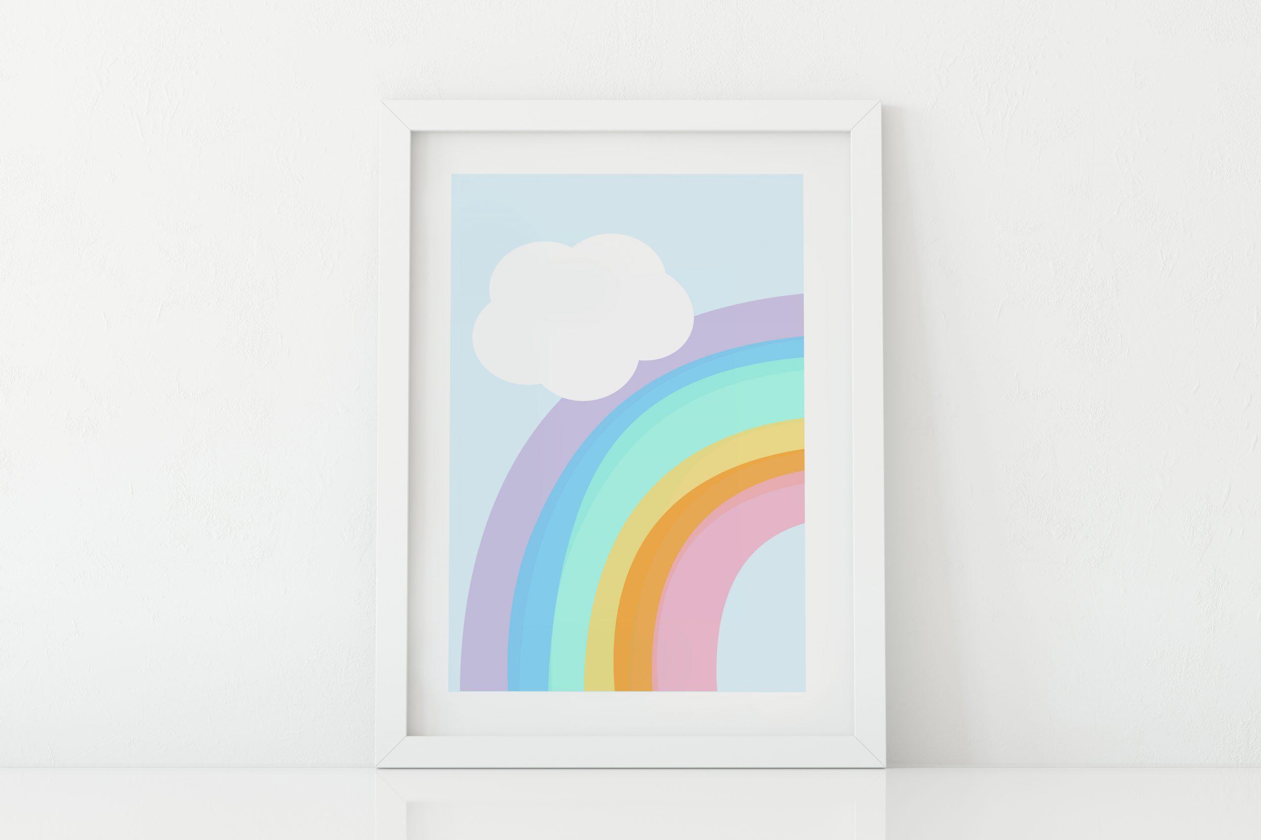 Rainbow room wall art