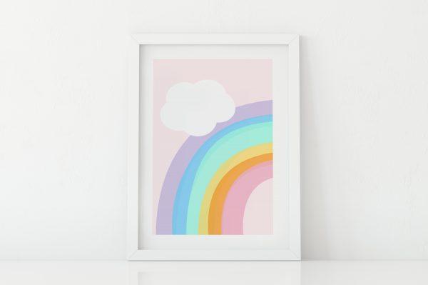 Rainbow nursery art print