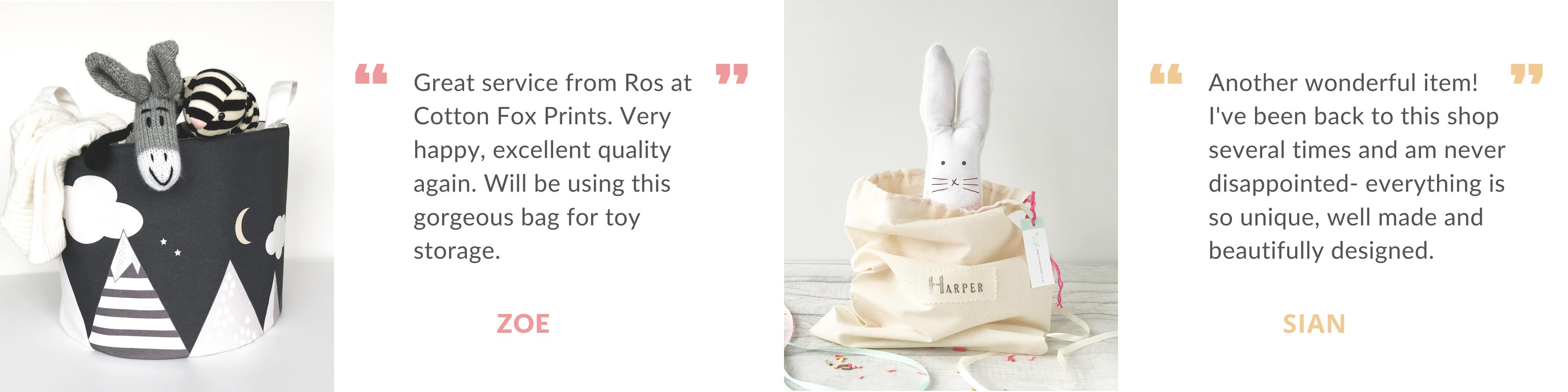 Cottonfoxprints review bunny