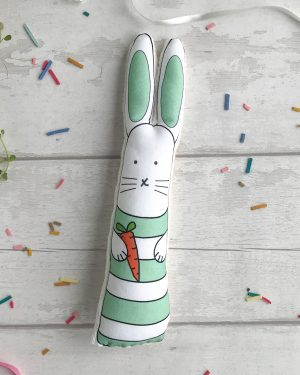 Green stripes bunny rabbit