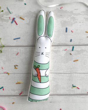 Green stripes bunny rabbit