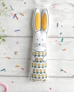 Yellow flowers bunny gift