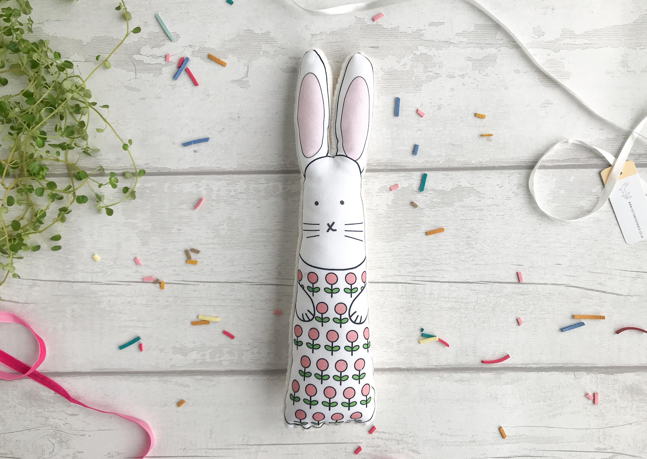 Personalised bunny rabbit toy