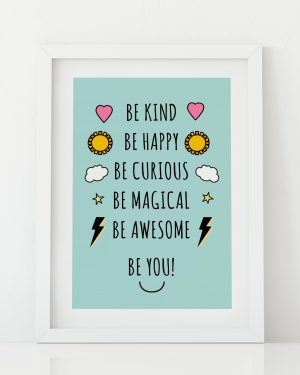 Be you superhero print