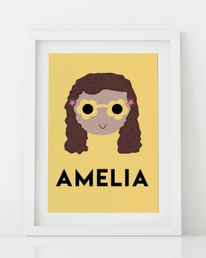 Custom name print for girls