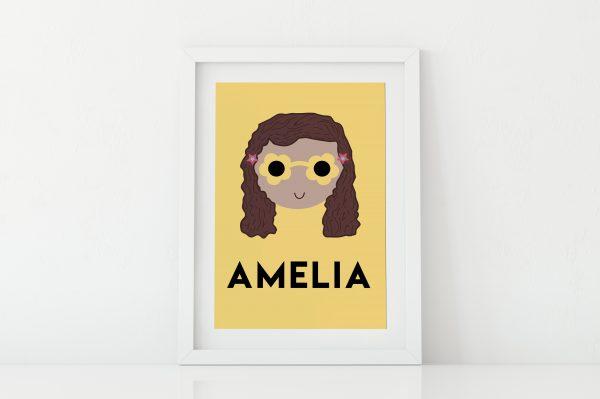 Custom name print for girls