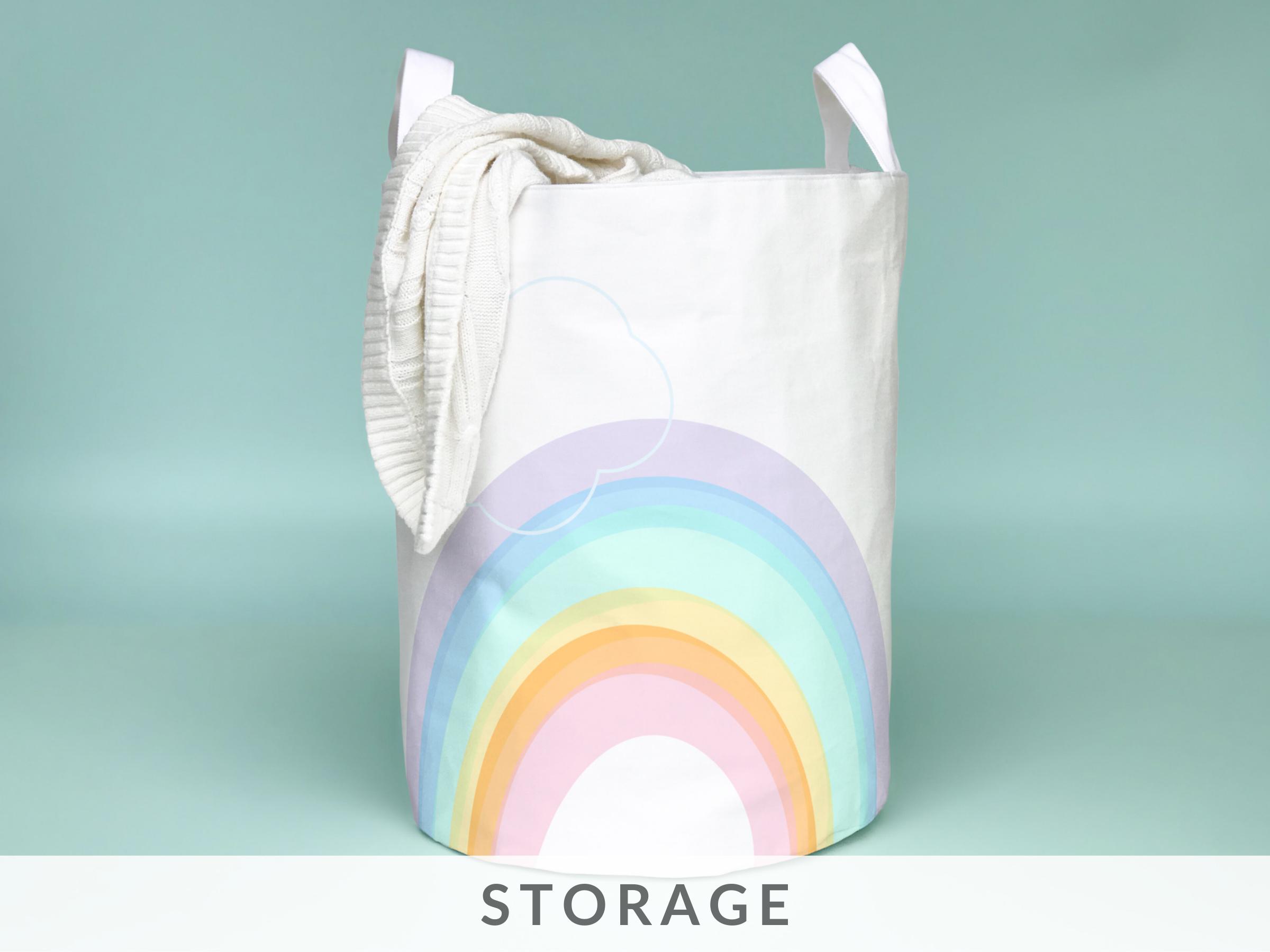 Nursery-Laundry-basket-toy-storage-cottonfoxprints
