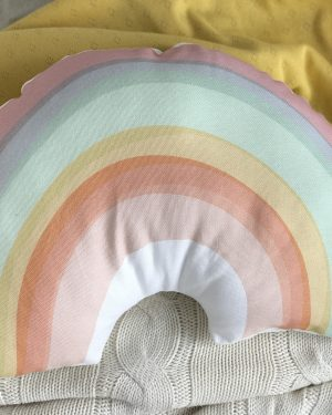 Kids colourful rainbow cushion