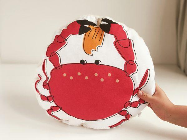 Kids crab plushie pillow