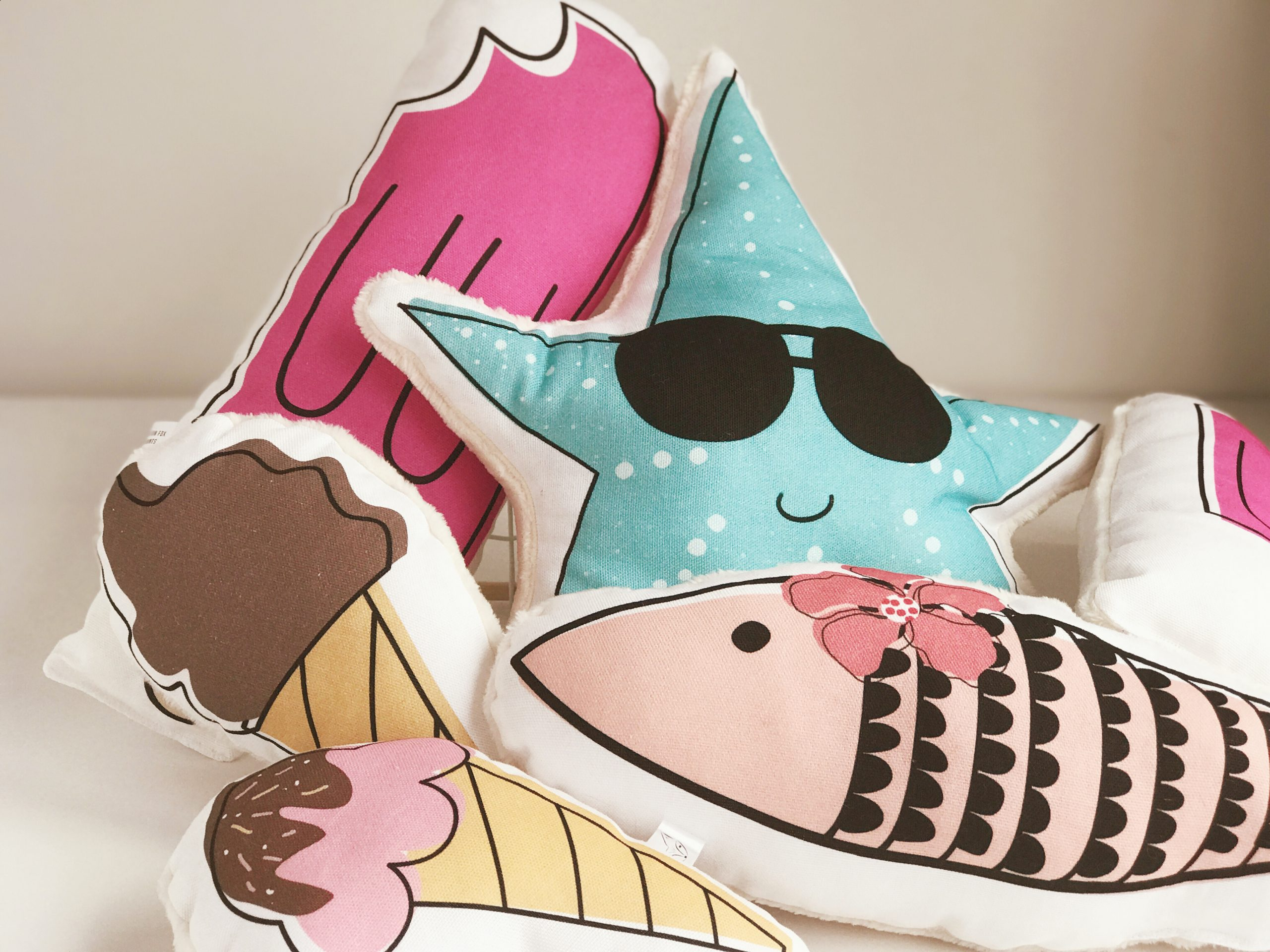 Kids fun fish pillow