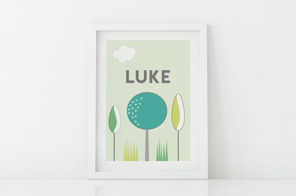 Custom woodland trees print